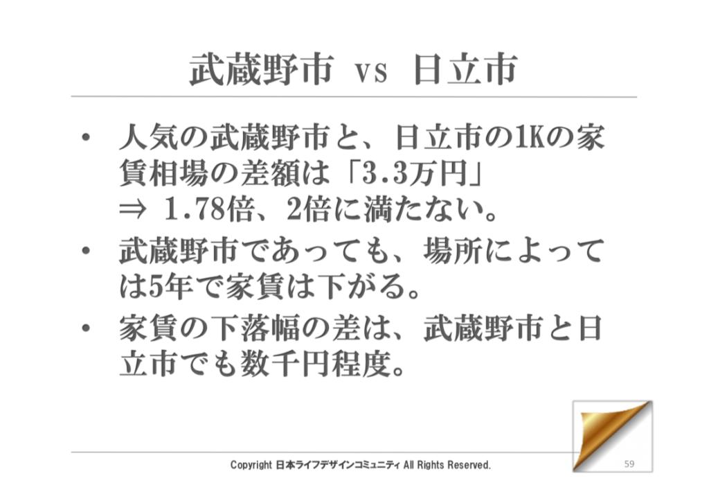 例)武蔵野市vs日立市